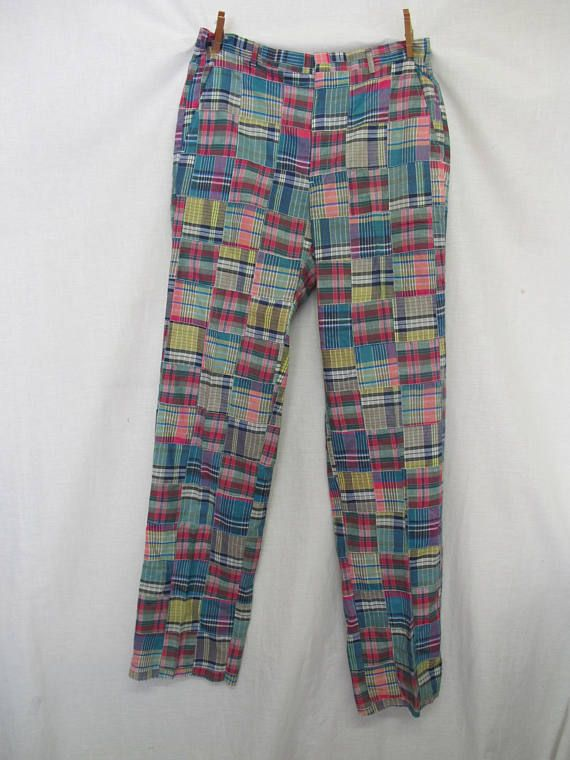 Madras Pants Madras Golf Pants Jack Nicklaus 33 Plaid Pants Hart Schaffner and Marx