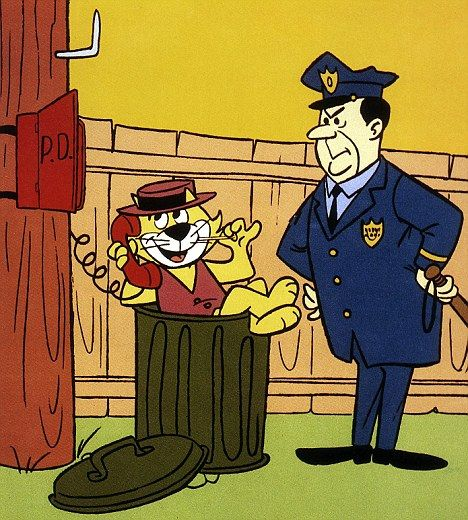 Top Cat | Top Cat with his nemesis Officer Dibble in the famous 1960s cartoon ...