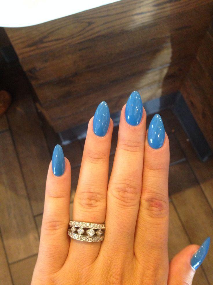 Blue Almond Nails Design Tumblr Www Mycutenails X With Images Blue Acrylic Nails Blue Nails Blue Stiletto Nails