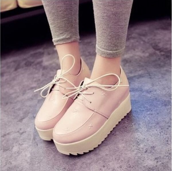 Best 2016 New Fashion British Goth Punk Creepers Flats Hot Sale Lace up Skull American Fashion Boat. Click visit to check price