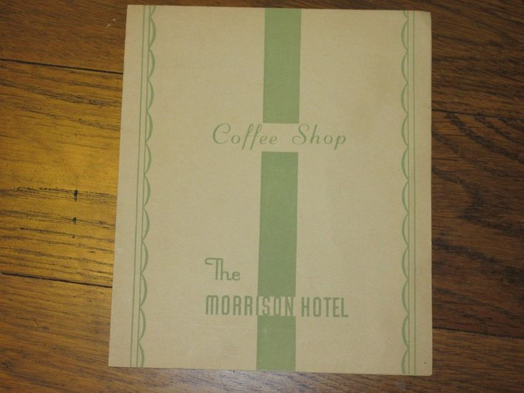 Coffee Shop the Morrison Hotel vintage menu Clark st Chicago 1944 Coffee Shop the Morrison Hotel vintage menu Clark st Chicago 1944 • CAD 10.65 1 of 5 ...