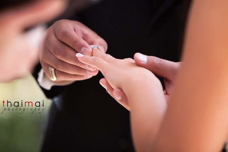 wedding ring exchange picture
