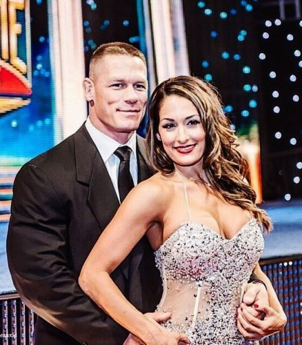 John Cena & girlfriend Nikki Bella at the WWE Hall of Fame Ceremony