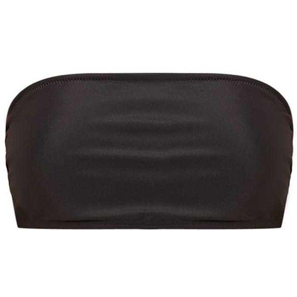 Mix Match Black Bandeau Bikini Top ($12) ❤ liked on Polyvore featuring swimwear, bikinis, bikini tops, strapless bikini, mix match swimwear, bandeau bikini tops, strapless swimwear and bandeau tops