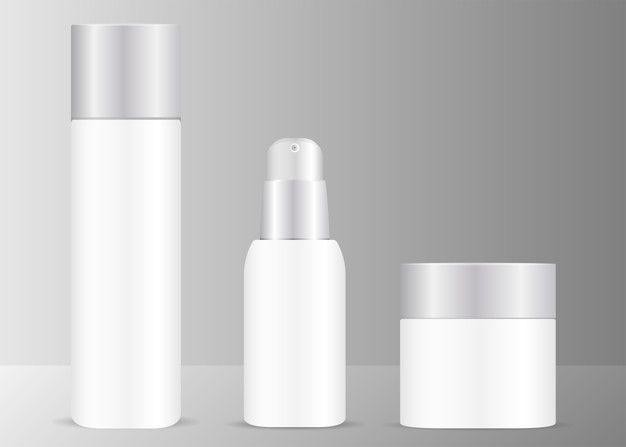 Bottles Cosmetics Mockup Bottle Cosmetics