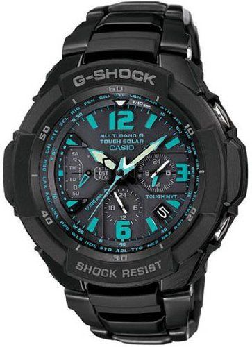 Casio G Shock Quartz Black/Blue Dial Black Band - Men's Watch GW3000BD-1A....love everything but the price tag.