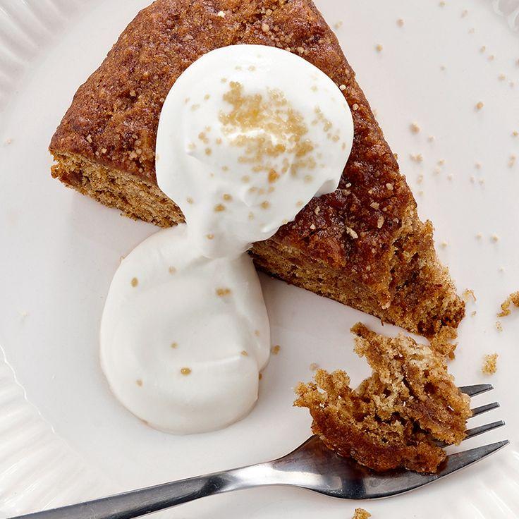 Gâteau aux dattes, à l'érable et au gingembre