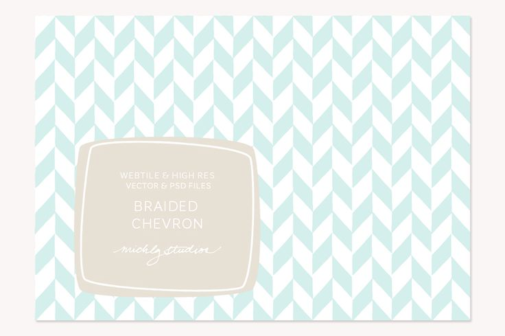 VECTOR & PSD Braided Chevron tile & by michLg studios on @creativemarket