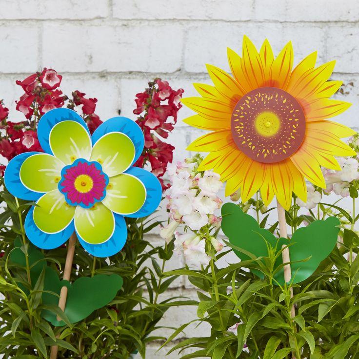 Fiore & Girasole.........#whirlywindmills #garden #pinwheels