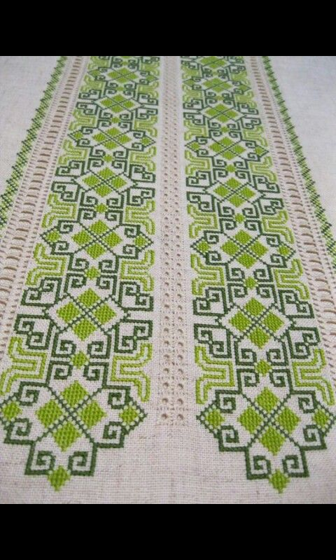 Image only. Cross stitch table runner.