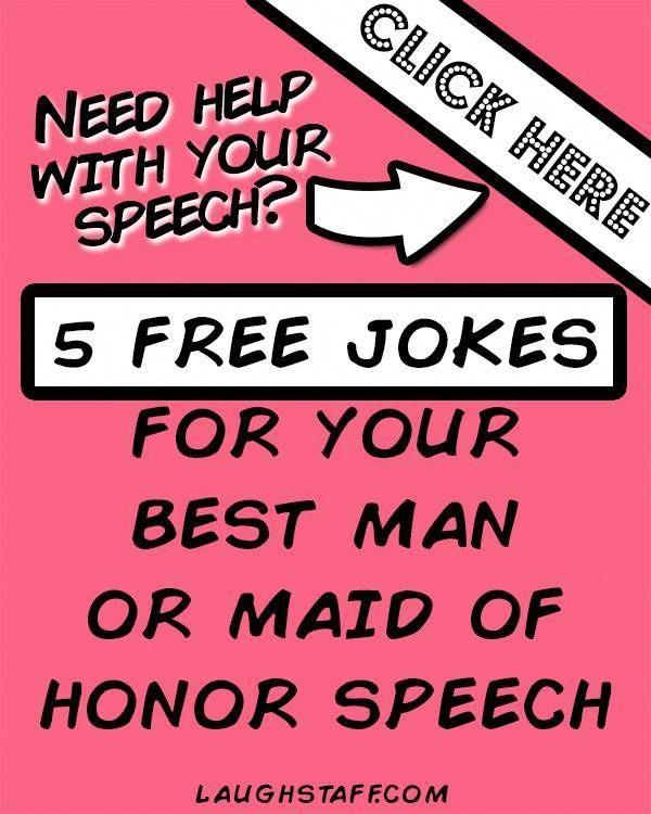 5 Free Maid Of Honor Speech Jokes Maidofhonorspeech Weddingtoast Funnyspeeches Speechtips Bridesmaid F Maid Of Honor Speech Wedding Speech Maid Of Honor