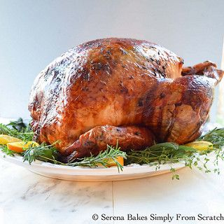 Super Juicy Turkey Baked In Cheesecloth And White Wine | Serena Bakes Simply From Scratch