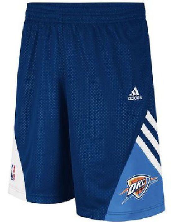 Oklahoma City Thunder Blue Pre-Game Shorts by Adidas $39.95
