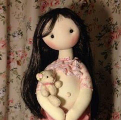 Pink gravida doll
