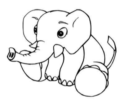 17 best images about cute baby elephant coloring pages on pinterest coloring fathers day and animal coloring pages - Cute Baby Elephant Coloring Pages