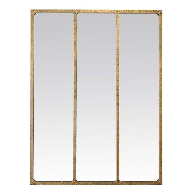 Miroir métal industriel 3 bandes doré – #bandes …