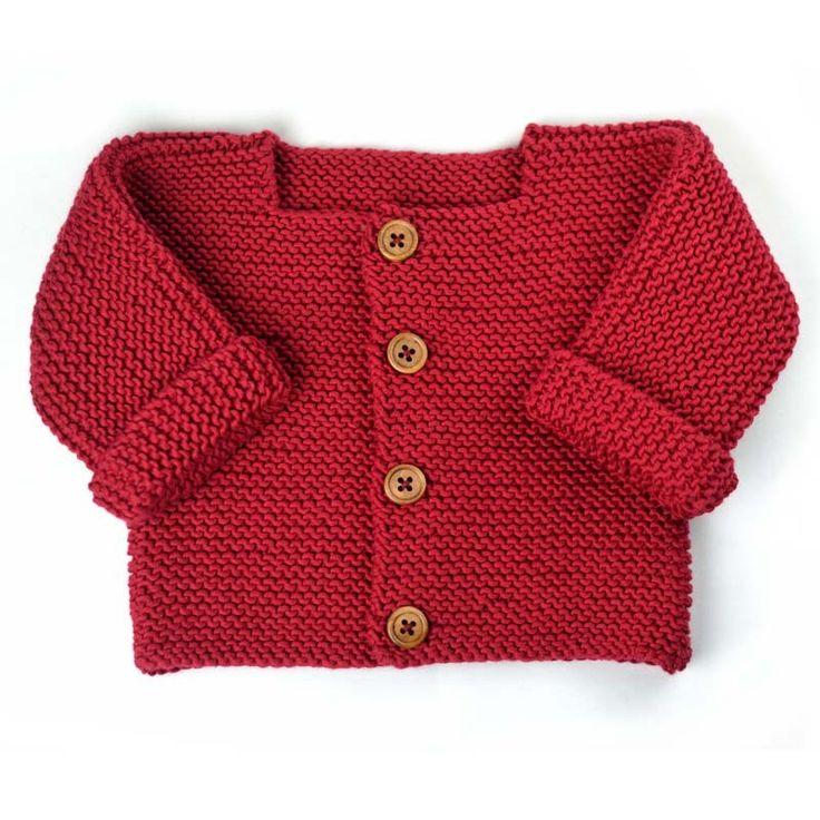Modèle à tricoter du gilet bébé Paul en coton Alto de Cheval Blanc