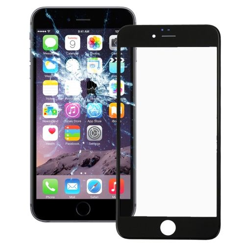 [USD$usd.ex($subject.price)] [EUR$eur.ex($subject.price)] [GBP$gbp.ex($subject.price)] iPartsBuy Front Screen Outer Glass Lens with Front LCD Screen Bezel Frame for iPhone 6 Plus(Black)