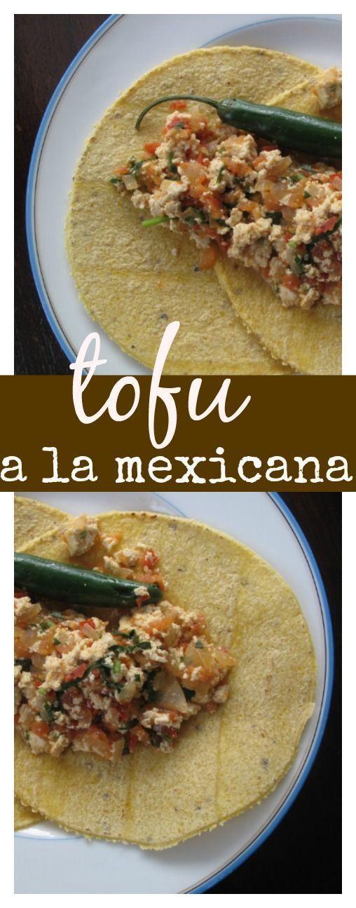 Tofu a la mexicana. Ne necesito decir más... receta vegana y mexicana. El mejor desayuno mexicano en version vegana.