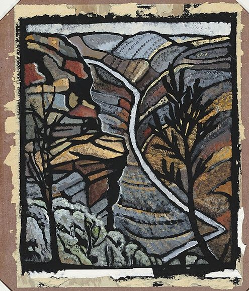 Artist: PRESTON, Margaret | Title: Shoalhaven Gorge, N.S.W. | Date: 1953 | Technique: stencil, printed in colour, from one hand-cut paper stencil | Copyright: © Margaret Preston. Licensed by VISCOPY, Australia
