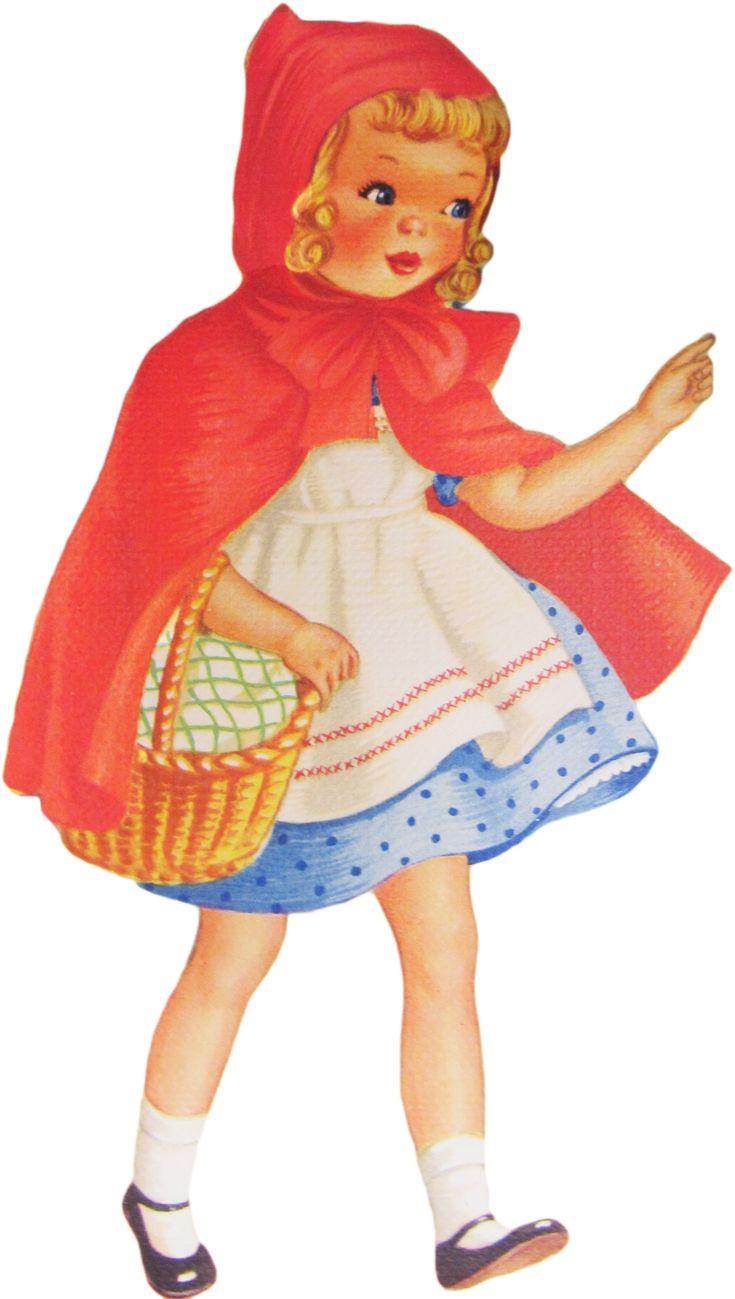 **FREE ViNTaGE DiGiTaL STaMPS**: Vintage Printable - Red Riding Hood
