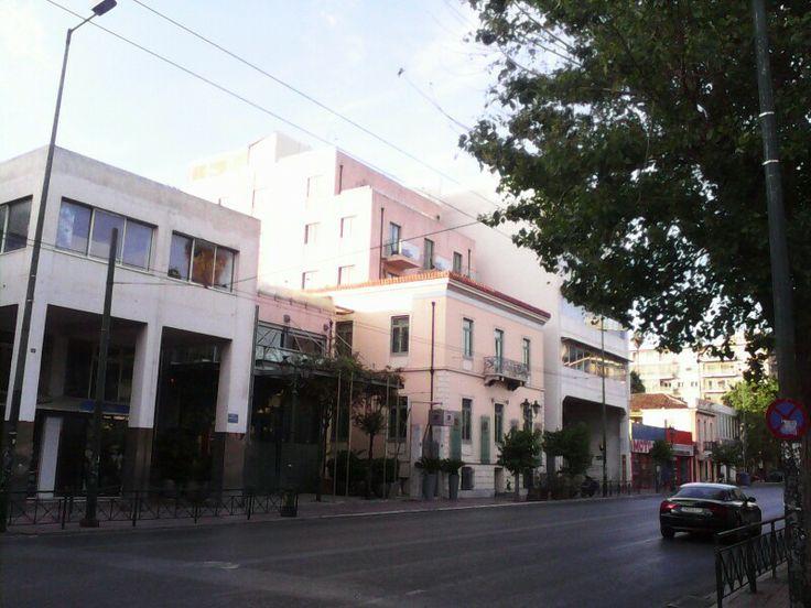 Varoulko restaurant and Iridanus boutique hotel at Piraeus Str.