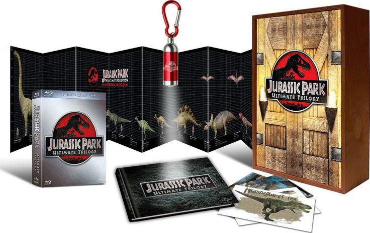 """Обзор распаковка Blu-ray трилогия """"Парк юрского периода"""" / Unboxing Tril..."""