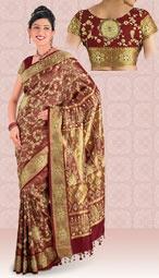 if i did a classic silk manthrakodi (wedding saree), i would do this