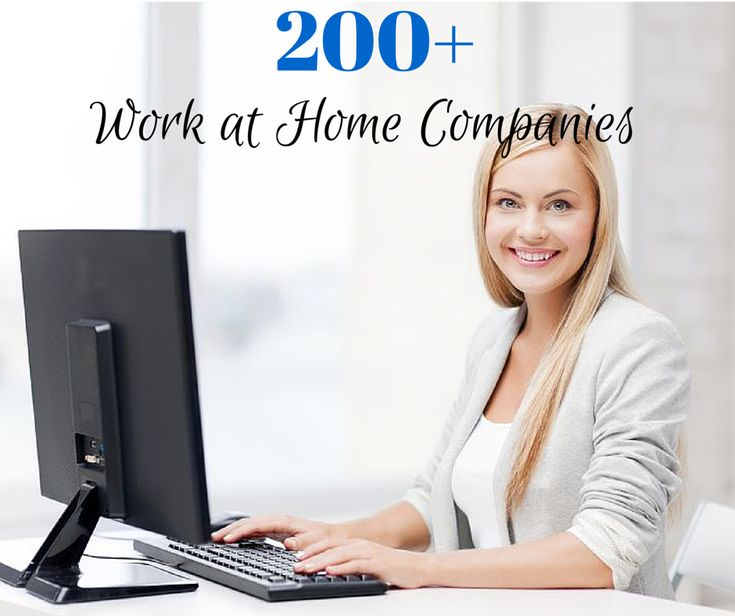 Work at Home Directory of over 200 companies that hire telecommuters