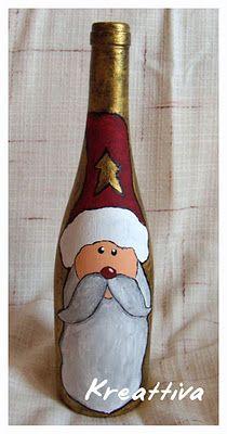 Un'idea carina per decorare le bottiglie a Natale