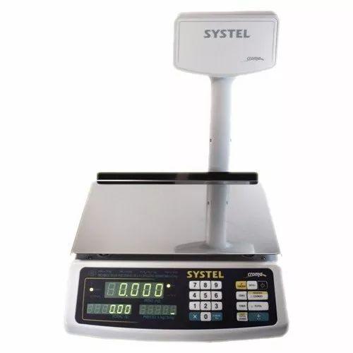 balanza digital systel croma 31 kg beteria salida impresor