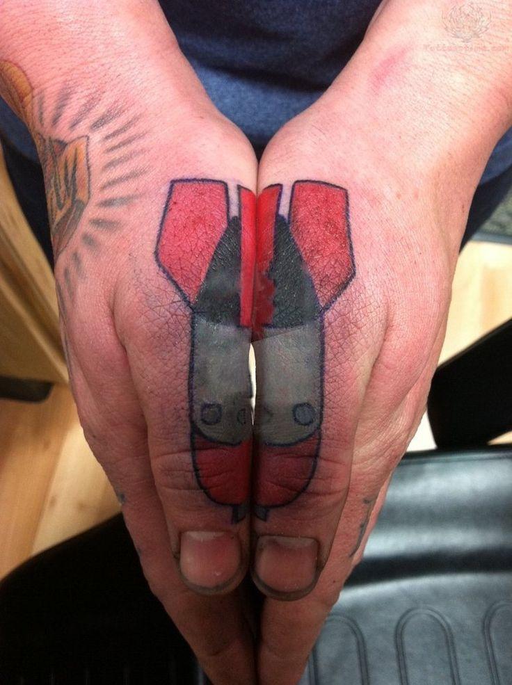 Droppin Bombs Thumb Tattoo