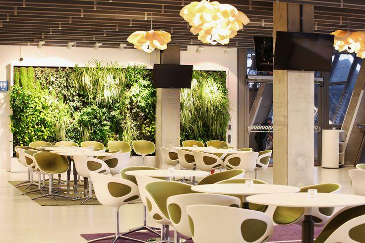 Tele 2 VIP Lounge Area, Stockholm. Greenworks' indoor living walls.