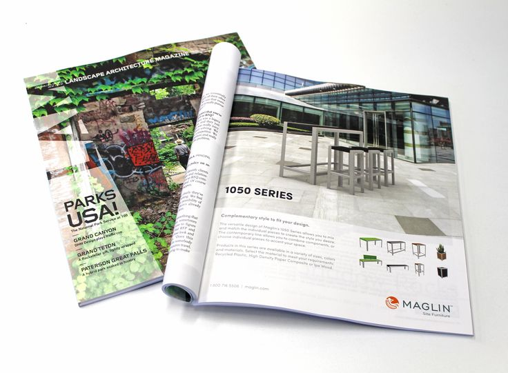Maglin's new 1050 Series was presented in the Landscape Architecture Magazine, August 2016 Issue.
