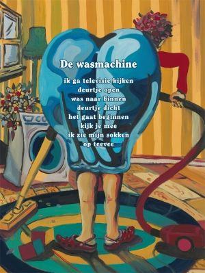 Aan de muur - Poëzieposters - poëzieposter met gedicht De wasmachine van Hans en Monique Hagen