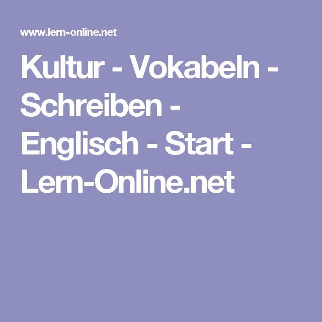 Kultur - Vokabeln - Schreiben - Englisch - Start - Lern-Online.net