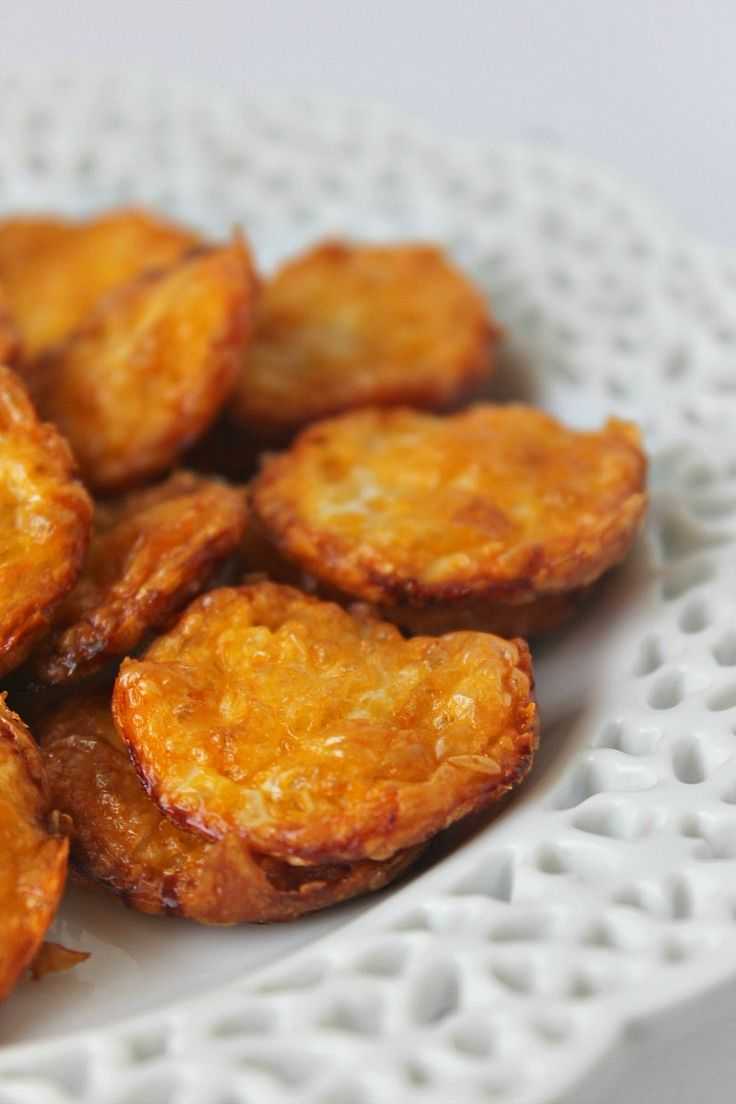 Two Ingredient Cheese Crisps  