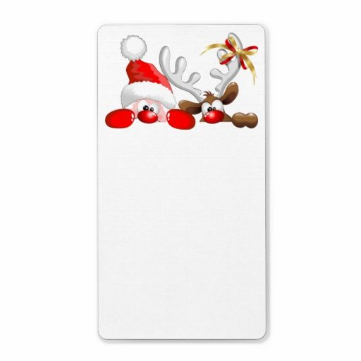 ☆SOLD!☆ 5 of these #Funny #Santa and #Reindeer #Cartoon #Labels  -  by BluedarkArt on #Zazzle  -  $3.15 per sheet of 8  -   Many Thanks to the Buyer! (ツ) http://www.zazzle.com/funny_santa_and_reindeer_cartoon_label-106333774356769132