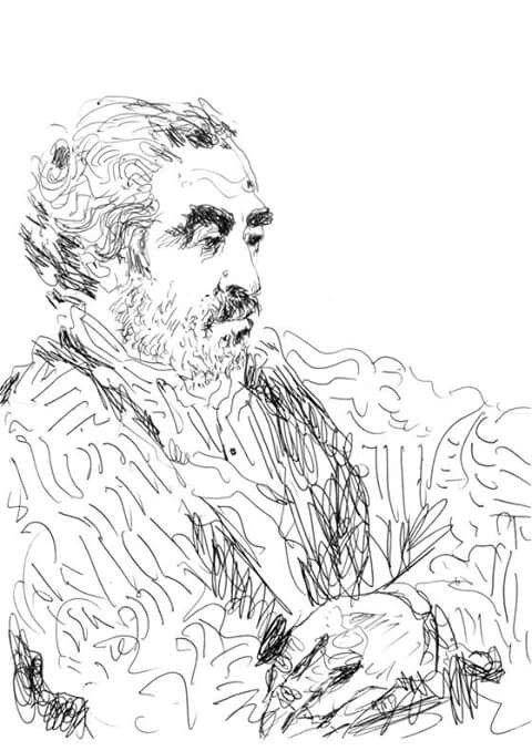 Portrait of Souto Moura by Alvaro Siza Vieira