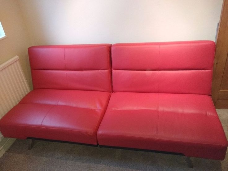 Red Leather Sofa Bed Asda
