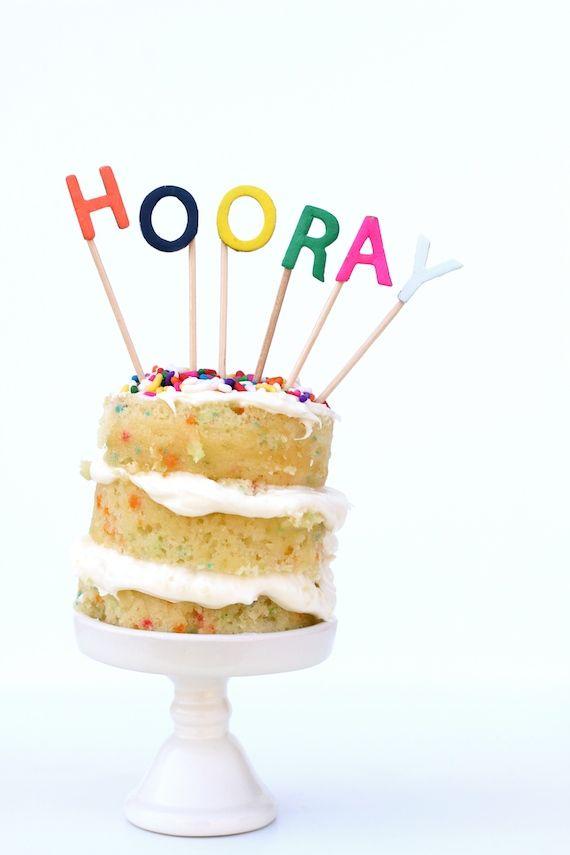 DIY Alphabet Cake Toppers