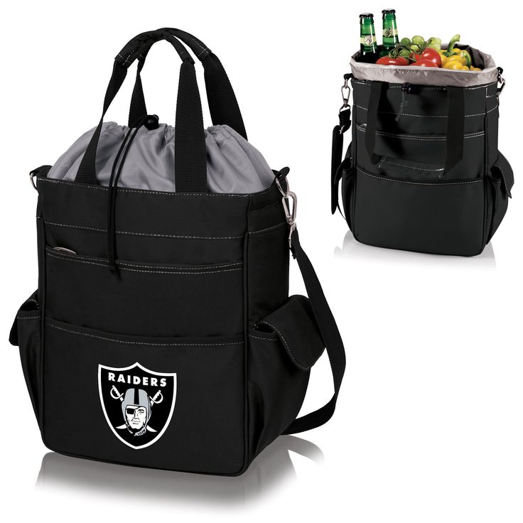 The Oakland Raiders Activo Cooler Tote by Fan Mans is great for tailgating or trips to the grocery store.  Features a large NFL Raiders logo.