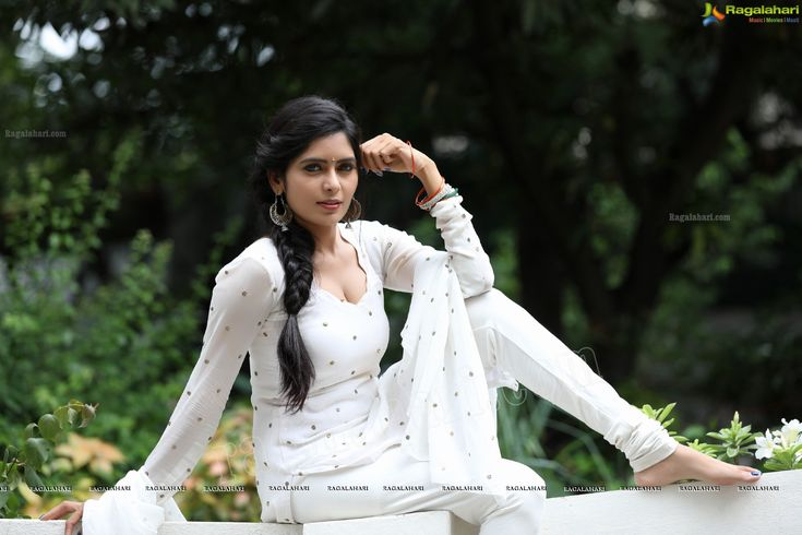 Check Out Exclusive Photos of Beautiful Indian Film Actress Madhumitha Krishna in White Punjabi Dress | Tollywood Actress Wallpapers