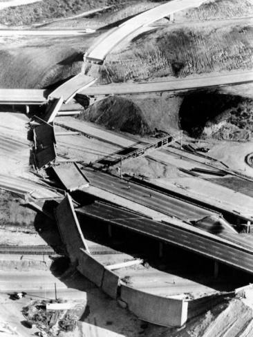 1971 San Fernando Earthquake Collapsed Freeway Overpasses