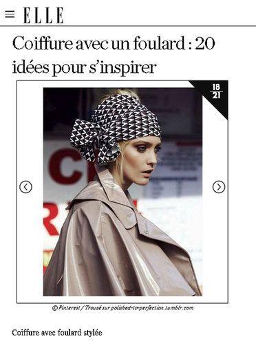 【ELLE】アイデア 17|速攻でトレンド感アップ! スカーフを使ったヘアアレンジアイデア20|エル・オンライン