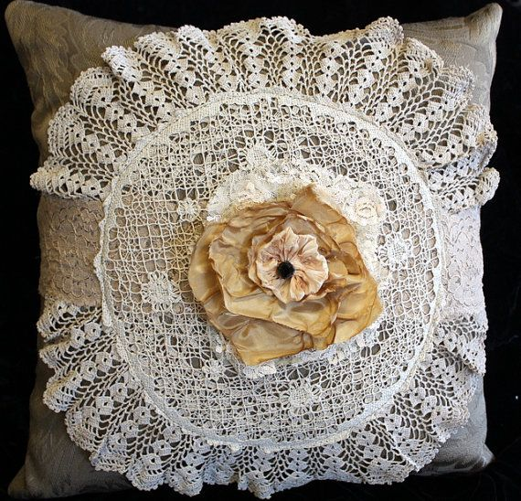 Pillow Victorian Style Shabby Chic Home Decor Hand by memor1es, $35.00 PILLOWS Pinterest ...