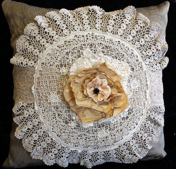 Victorian Era Pillows : Pillow Victorian Style Shabby Chic Home Decor Hand by memor1es, $35.00 PILLOWS Pinterest ...