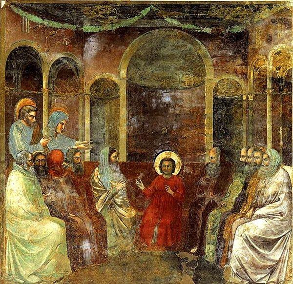 16-GIOTTO JESUS PREDICANDO EN EL TEMPLO