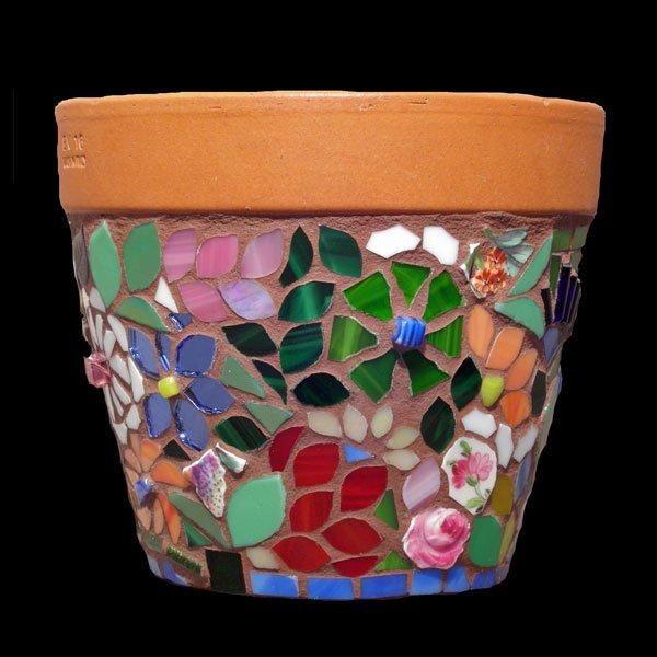 mosaic garden pots - Google Search