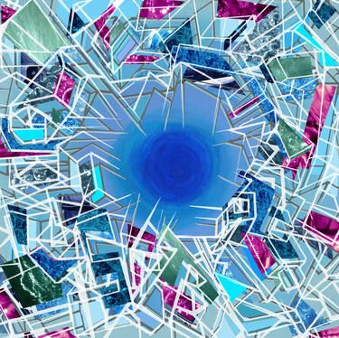 "Saatchi Art Artist Dex Hannon; New Media, ""Kommunikotion Ice Age"" #art Retro-Futurism"